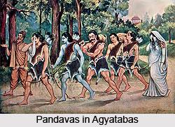 Agyatabas, Pandavas