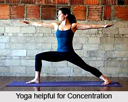 Breathing and concentration in Yoga Asanas