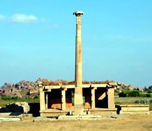 The Garuda Sthamba in Nagappattinam, Tamil Nadu