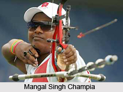 Mangal Singh Champia, Indian Athlete