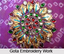 Gota Work, Lappe-ka-kaam, Metal Embroidery in Rajasthan