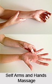 Self Arms and Hands Massage, Aromatherapy
