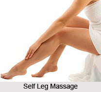 Self Leg Massage, Aromatherapy