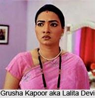 Grusha Kapoor aka Lalita Devi, Indian TV Actress