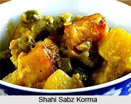 Shahi Sabz Korma, Indian Vegetable Dish