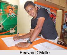 Beevan D'Mello, Indian Football Player