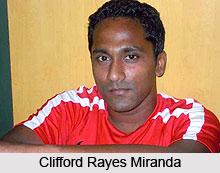 Clifford Rayes Miranda, Indian Football Player