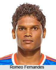 Romeo Fernandes, Indian Football Player