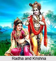 Krishna Gopala, Radha and great goddess