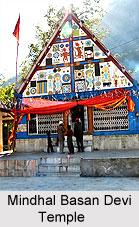 Mindhal Basan Devi Temple, Pangi Valley, Chamba, Himachal Pradesh