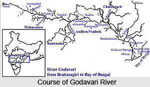 Course Of Godavari River, Indian River