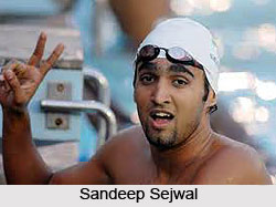 Sandeep Sejwal, Indian Swimmer