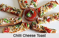 Chilli Cheese Toast, Indian Snacks