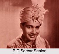P C Sorcar , Senior, Indian magician