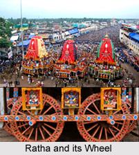 Chariots of Lord Jagannath, Balarama and Shubhadra