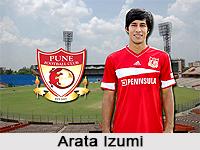 Arata Izumi, Indian Football Player