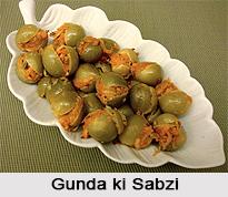 Gunda ki Sabzi, Rajasthani Cuisine