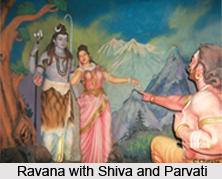 Legend of Ravana, Shiva and Parvati