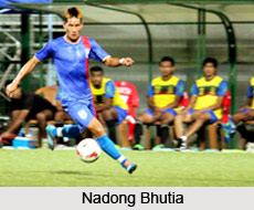 Nadong Bhutia, Indian Football Player