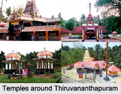 Temples around Thiruvananthapuram, Kerala, South India